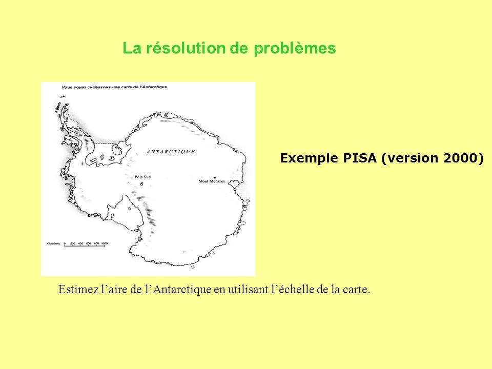 La résolution de problèmes Estimez l'aire de l'Antarctique en utilisant l'échelle de la carte.