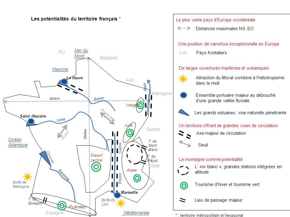 Les potentialités du territoire français * Belgique Lux.