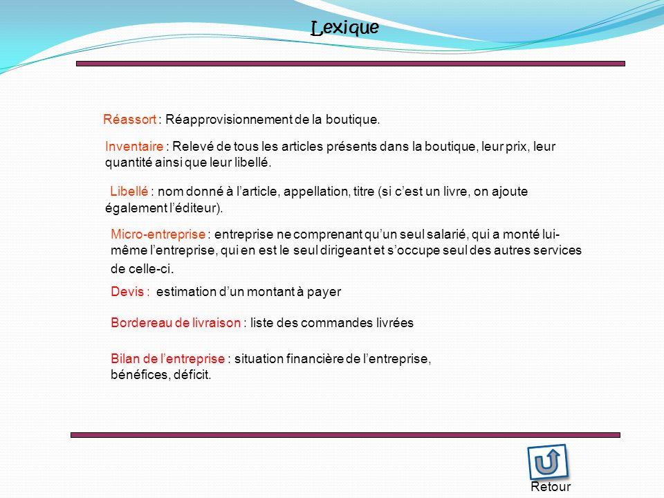 Retour Lexique Réassort : Réapprovisionnement de la boutique.