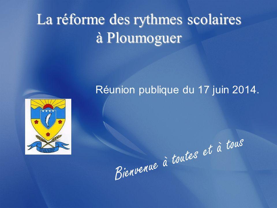 La réforme des rythmes scolaires à Ploumoguer Réunion publique du 17 juin 2014.