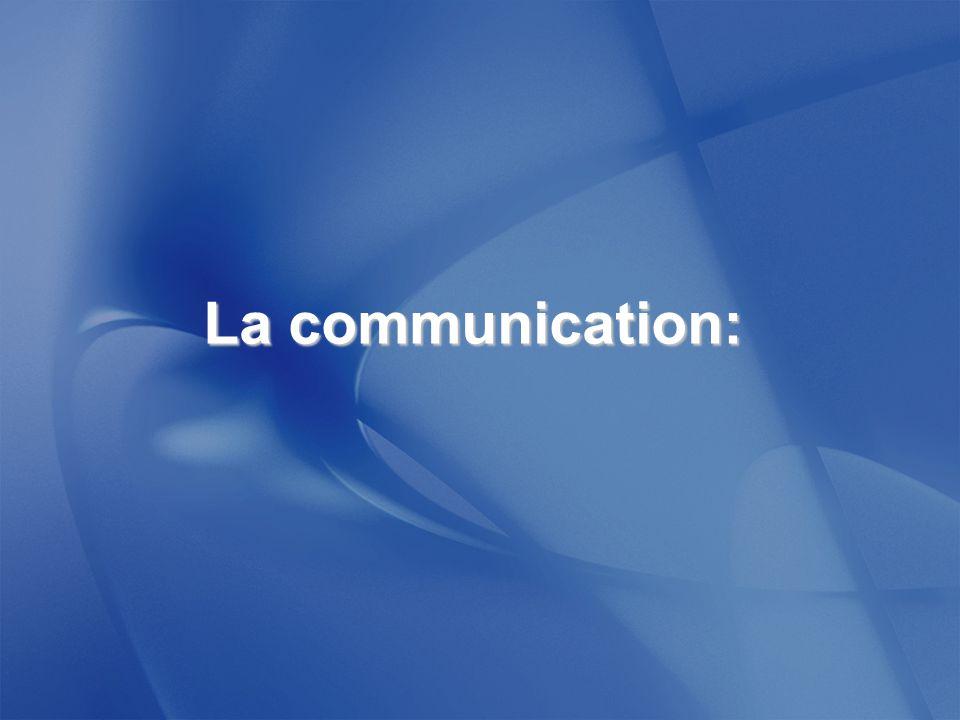 La communication: