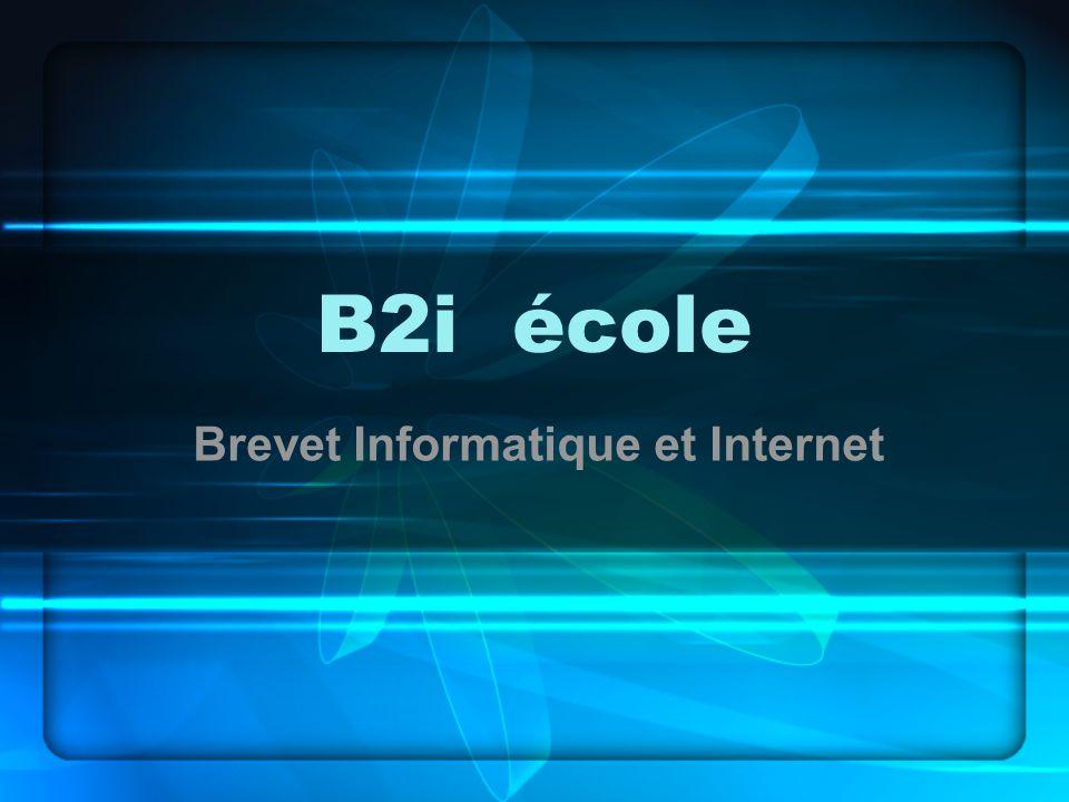 B2i école Brevet Informatique et Internet