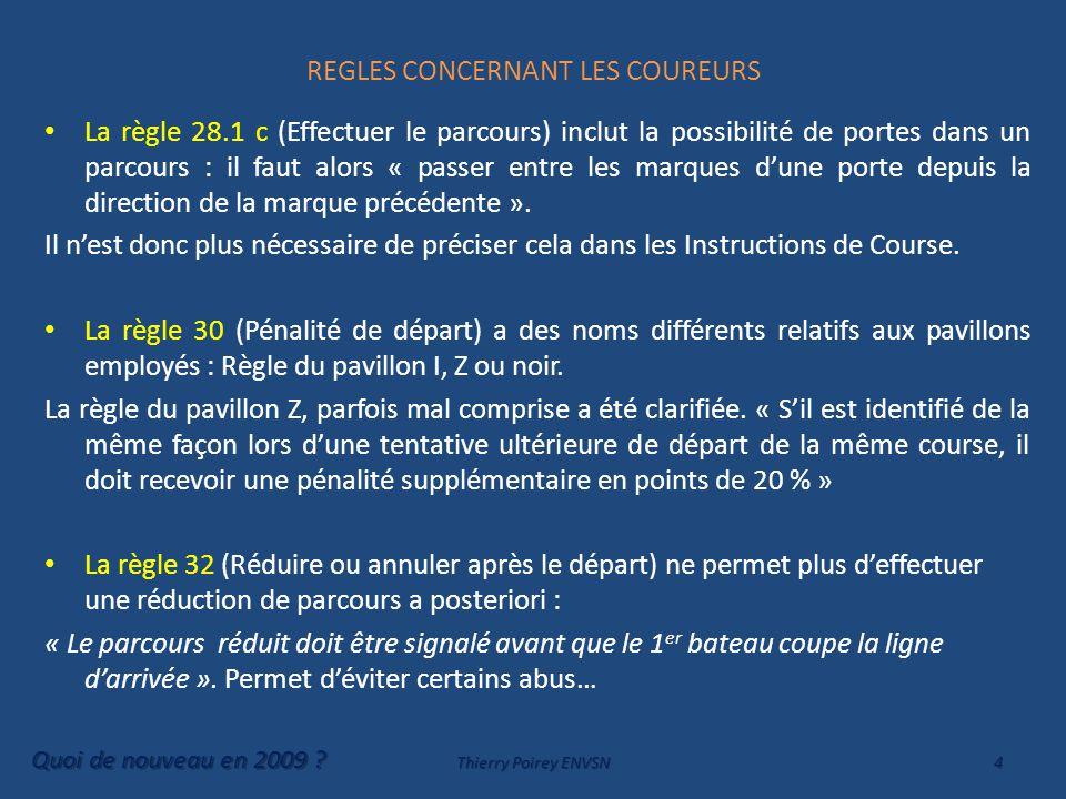 REGLES CONCERNANT LES COUREURS Chapitre 2 SECTION C SUITE Nouvelle définition plus claire de la place à donner par de la Place-A-La-Marque .