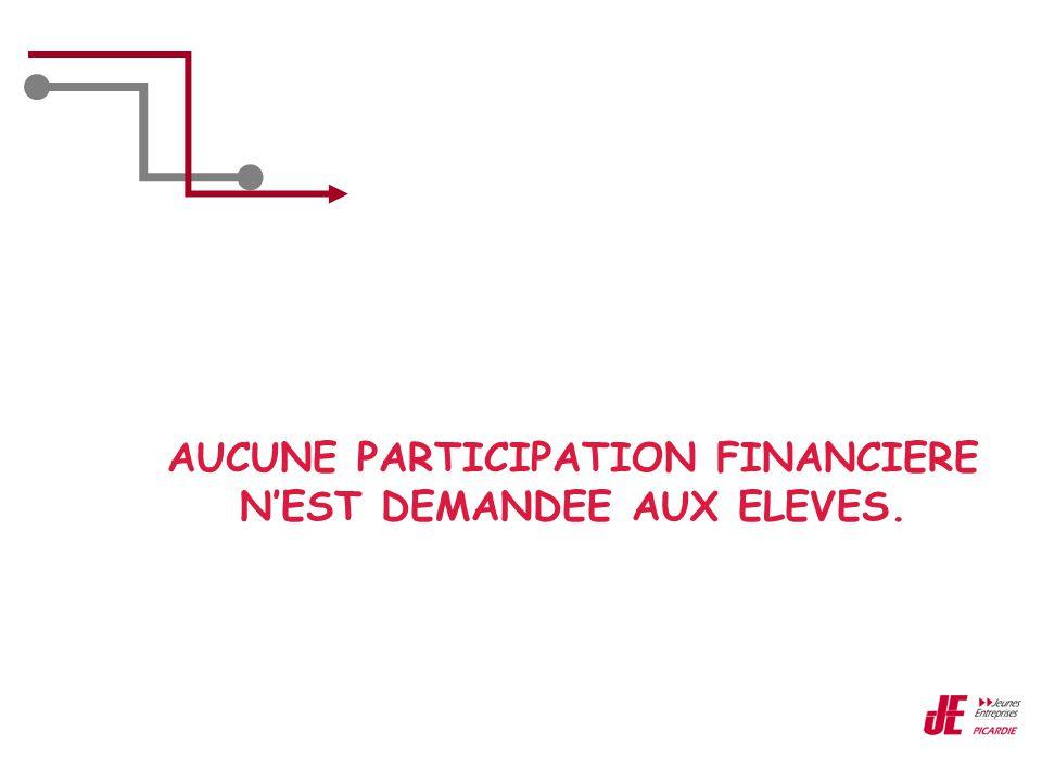 AUCUNE PARTICIPATION FINANCIERE N'EST DEMANDEE AUX ELEVES.