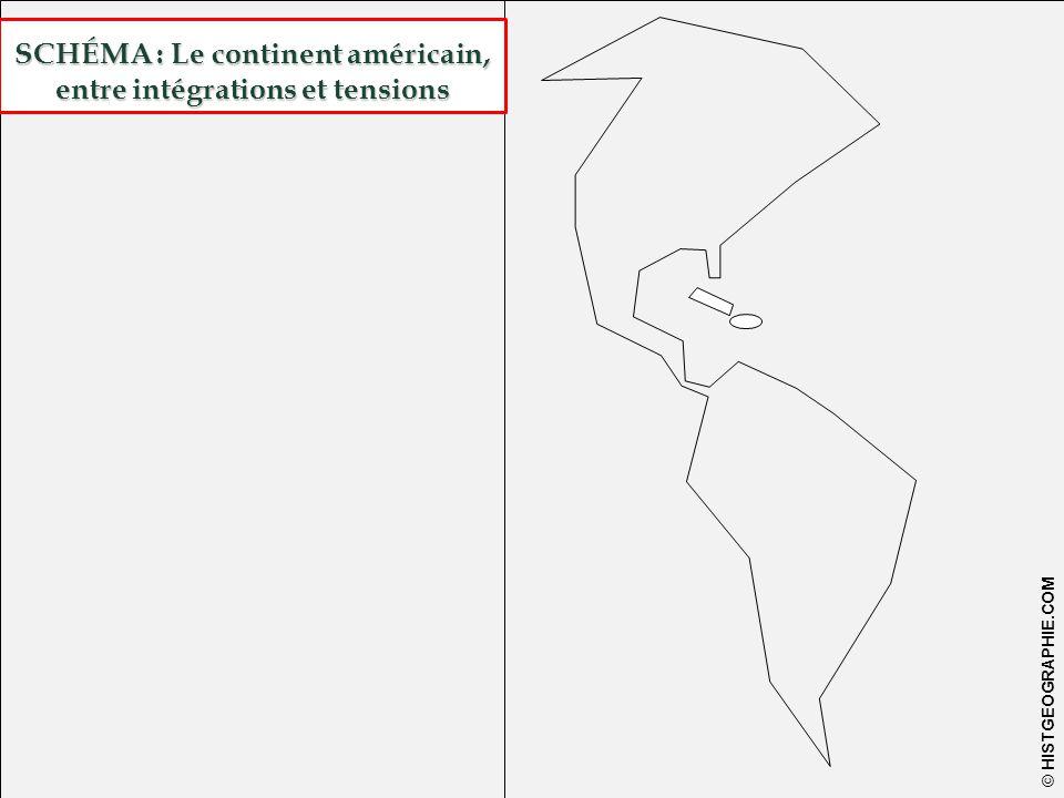 22 © HISTGEOGRAPHIE.COM SCHÉMA : Le continent américain, entre intégrations et tensions