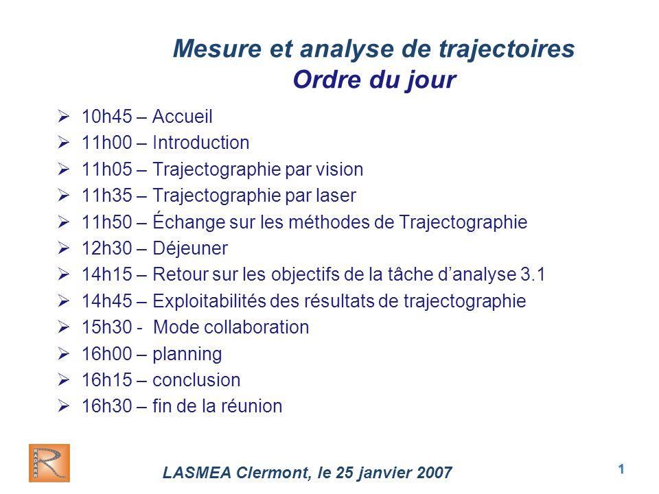 """Pr�sentation """"LASMEA Clermont, le 25 janvier 2007 1 Mesure et ..."""