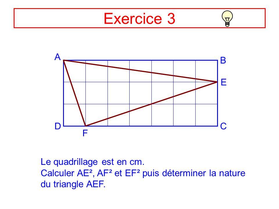 pythagore exercices corrigés