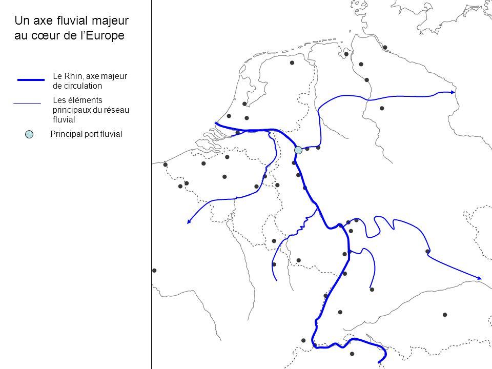 Un axe fluvial majeur au cœur de l'Europe Le Rhin, axe majeur de circulation Les éléments principaux du réseau fluvial Principal port fluvial