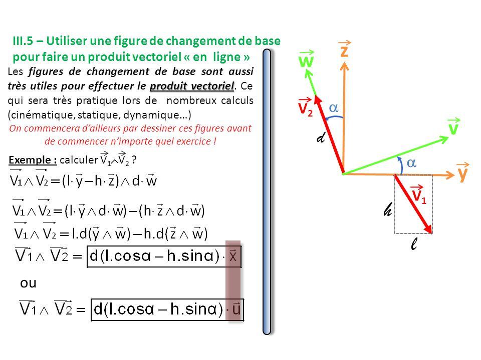 ou y z v w   V1V1 V2V2 d l h Exemple : calculer V 1  V 2 .