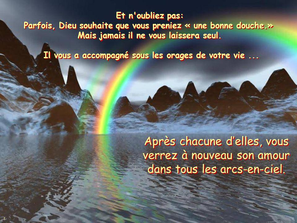 De temps en temps, prenez le temps de courir sous la pluie Prenez le temps de Vivre