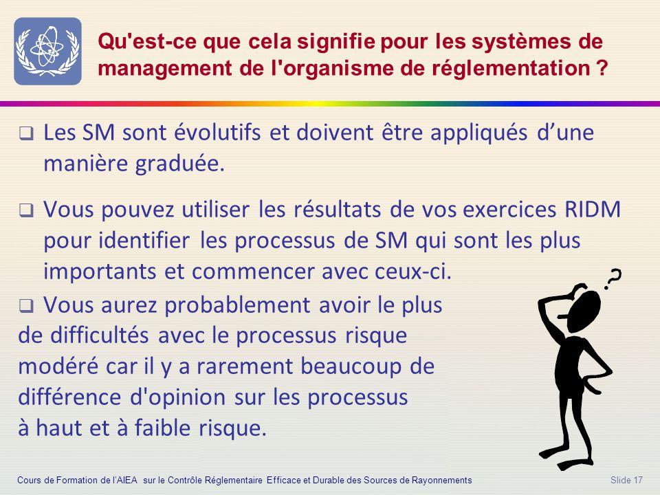 Slide 17 Qu est-ce que cela signifie pour les systèmes de management de l organisme de réglementation .