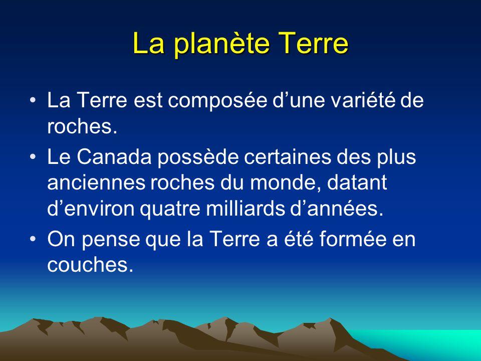 Planète terre la terre est composée d'une variété de roches. le