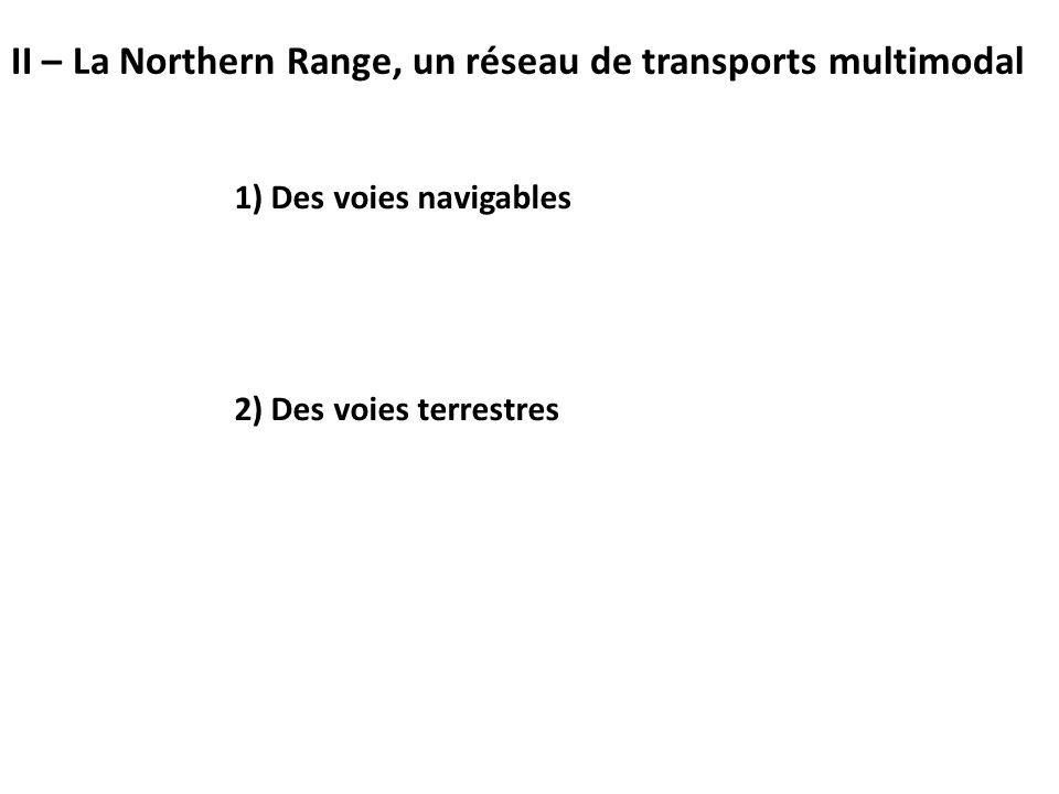 1) Des voies navigables 2) Des voies terrestres II – La Northern Range, un réseau de transports multimodal