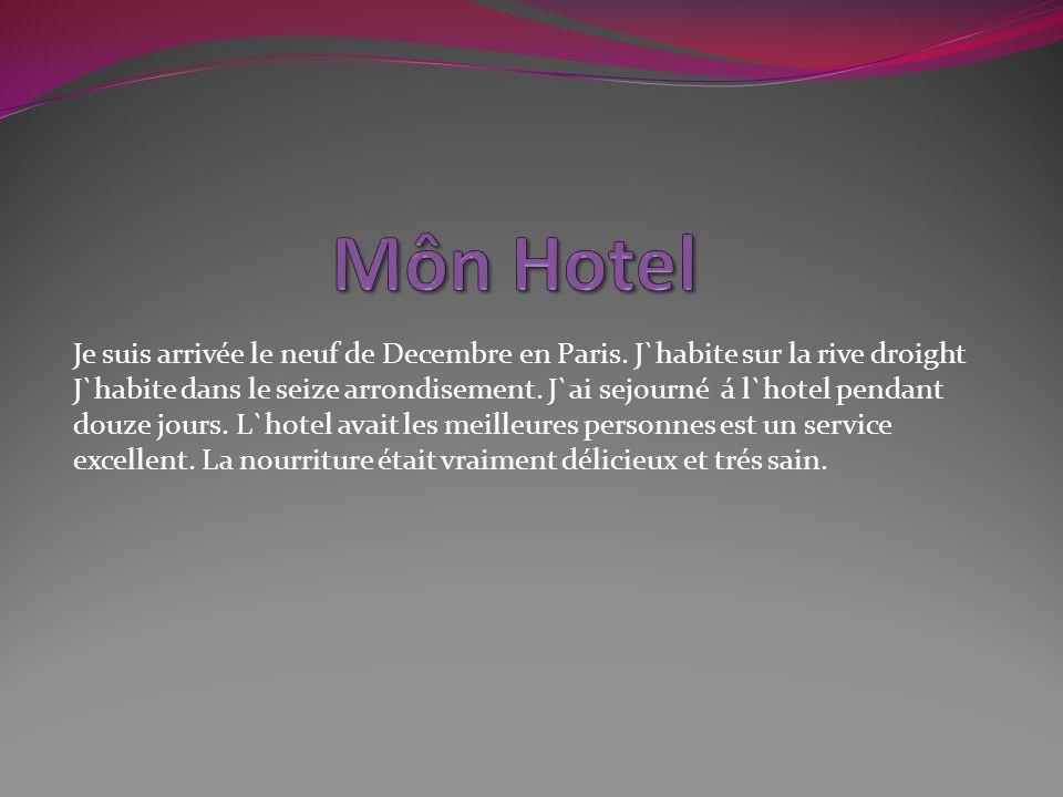 Arrivée à l hôtel - Bonjour, Mosieur - Bon jour Mademoiselle.