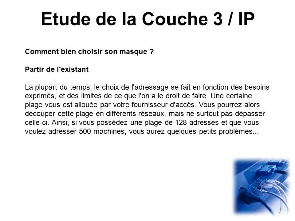 Etude de la Couche 3 / IP Comment bien choisir son masque .