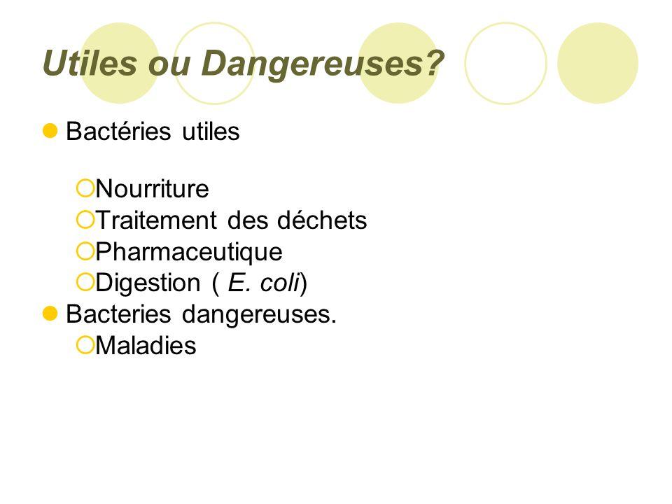 Utiles ou Dangereuses.