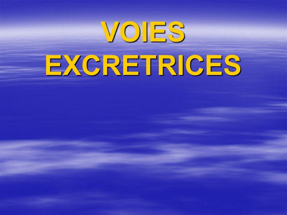 VOIES EXCRETRICES