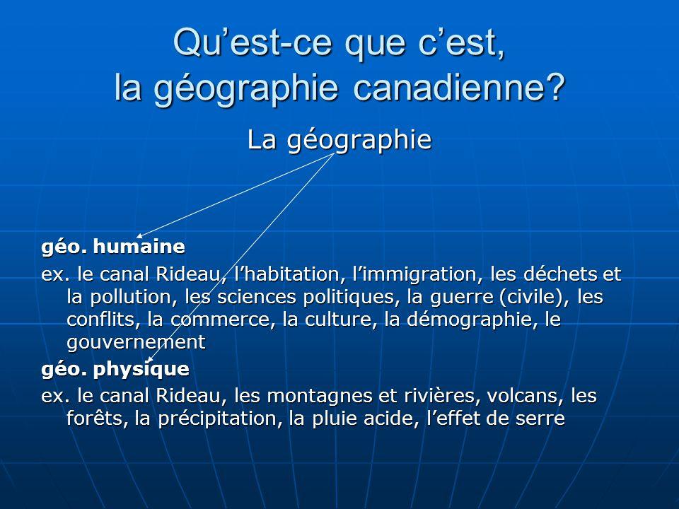 """Pr�sentation """"G�ographie du Canada CGC1DF Module 1 � Introduction ..."""