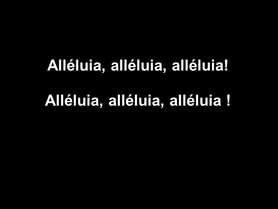Alléluia, alléluia, alléluia !