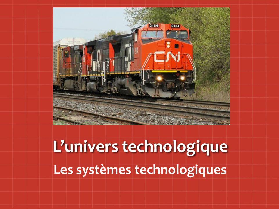 L'univers technologique Les systèmes technologiques