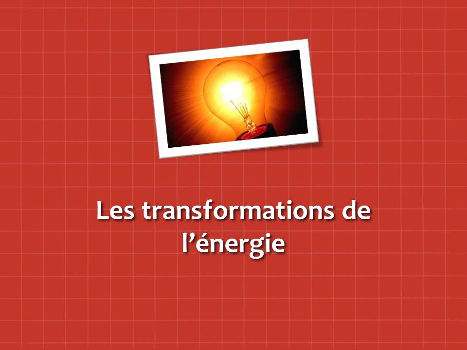 Les transformations de l'énergie