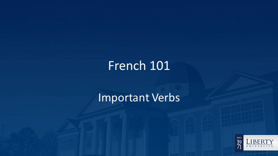French 101 Important Verbs