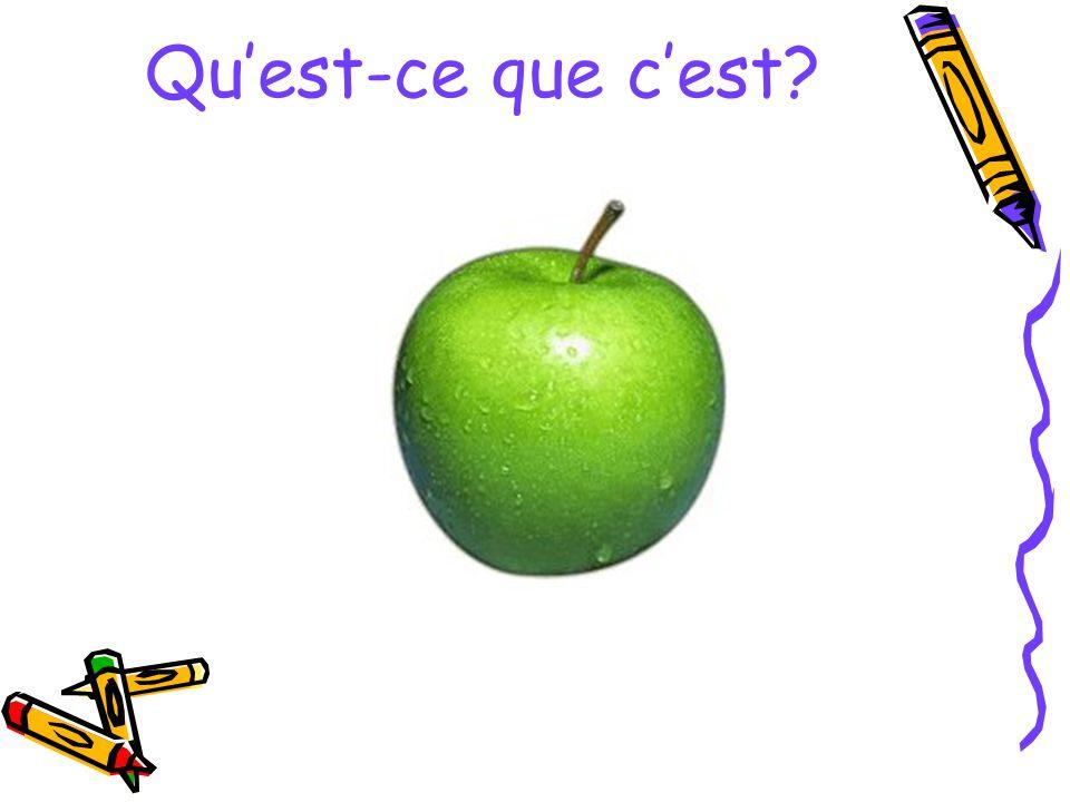 C'est une pomme...