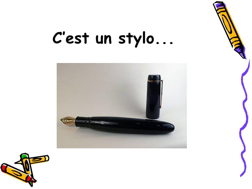 C'est un stylo noir!