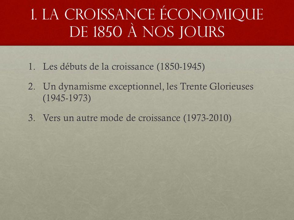 Dissertation croissance economique depuis 1850