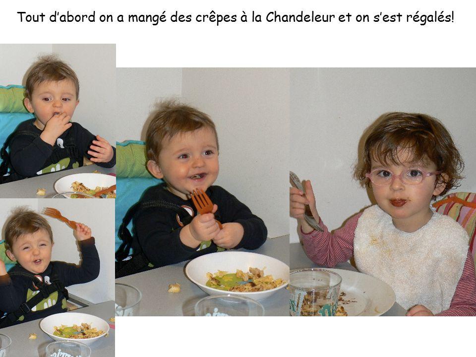 Tout d'abord on a mangé des crêpes à la Chandeleur et on s'est régalés!