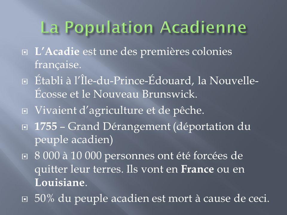  L'Acadie est une des premières colonies française.
