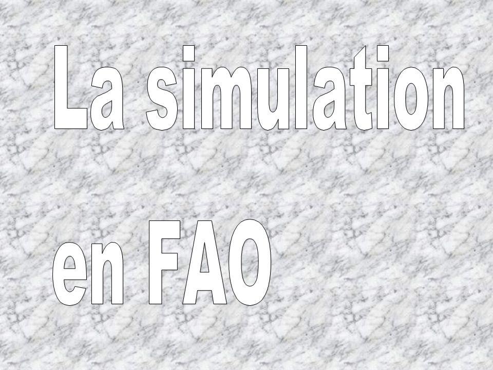 QUESTIONS : (Vous trouverez les réponses en manipulant le logiciel) 1° Quand on clique sur l icône de simulation, il apparaît une fenêtre Compte rendu d usinage .