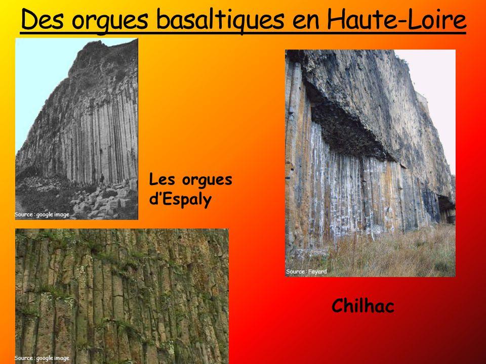 Des orgues basaltiques en Haute-Loire Les orgues d'Espaly Chilhac Source : Fayard Source : google image