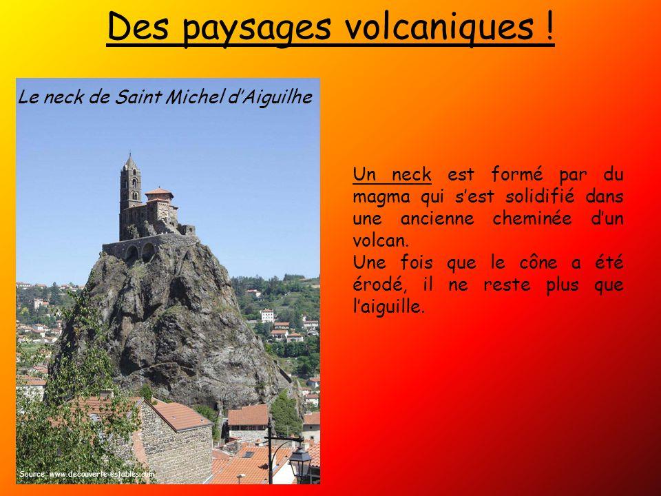 Des paysages volcaniques .