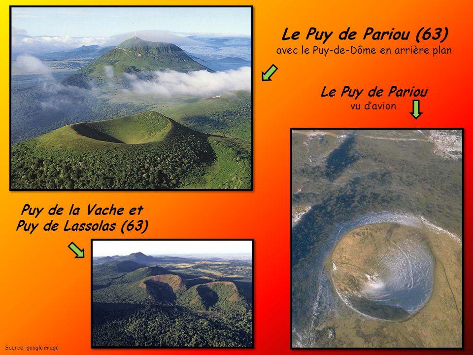 Le Puy de Pariou (63) avec le Puy-de-Dôme en arrière plan Le Puy de Pariou vu d'avion Puy de la Vache et Puy de Lassolas (63) Source : google image