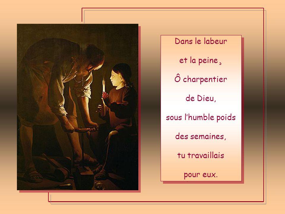 Il te disait: « Toi mon père » Ô familier de Dieu, Et tu aimas comme un frère Celle qui règne aux cieux.