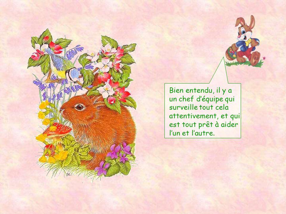Regardez par exemple ce qu 'a réalisé notre lapin orfèvre dans le jardin d'une famille nombreuse ! Ce n'est pas beau, cela ?