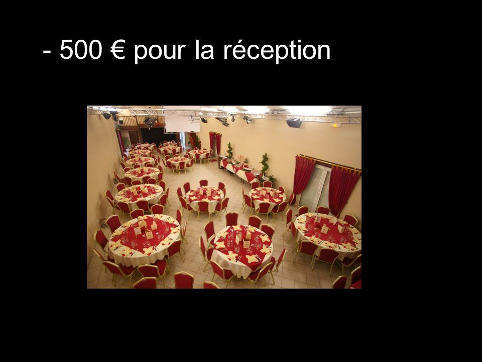 - 500 € de don pour l'église