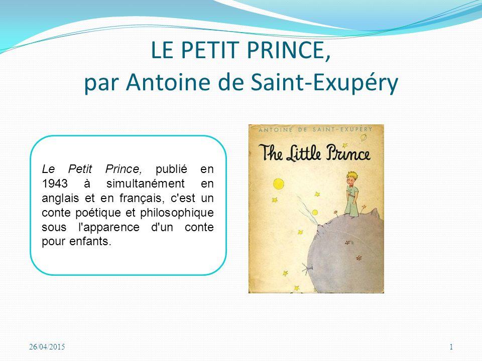 le petit prince antoine de saint exupery rencontre avec la fleur