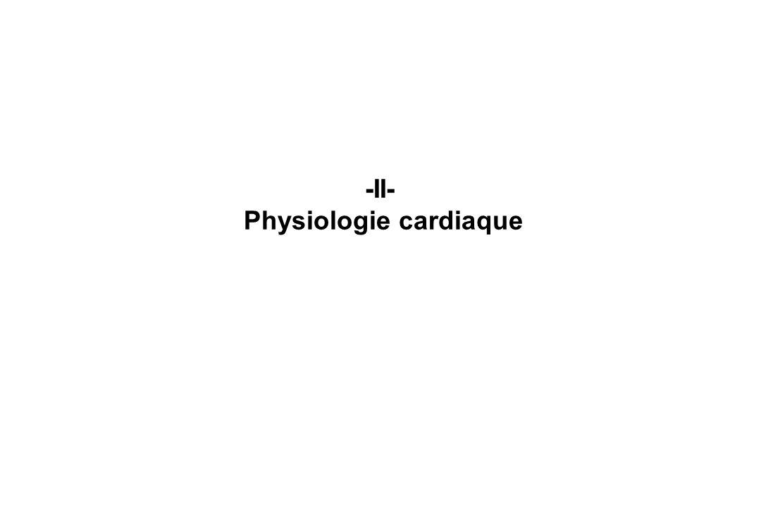 -II- Physiologie cardiaque