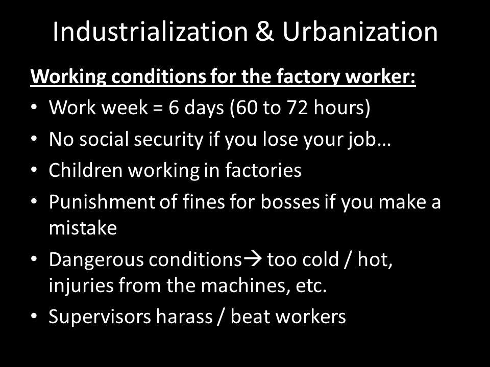 urbanization and industrialization in canada