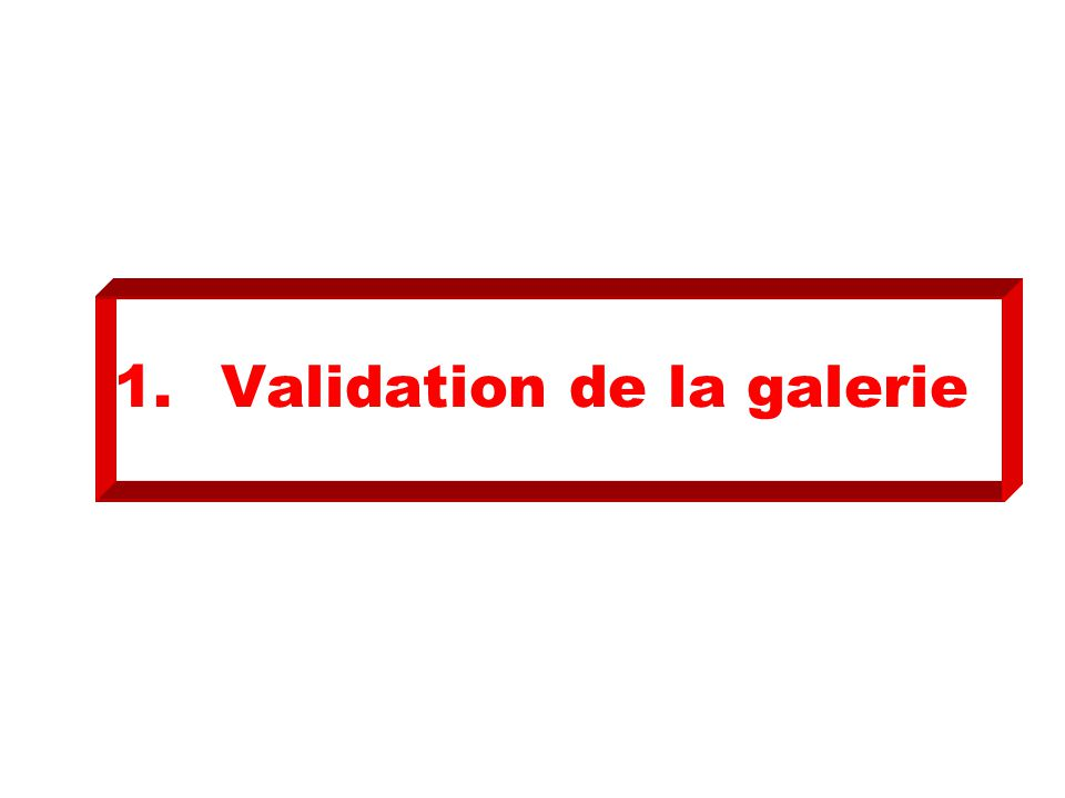 1.Validation de la galerie