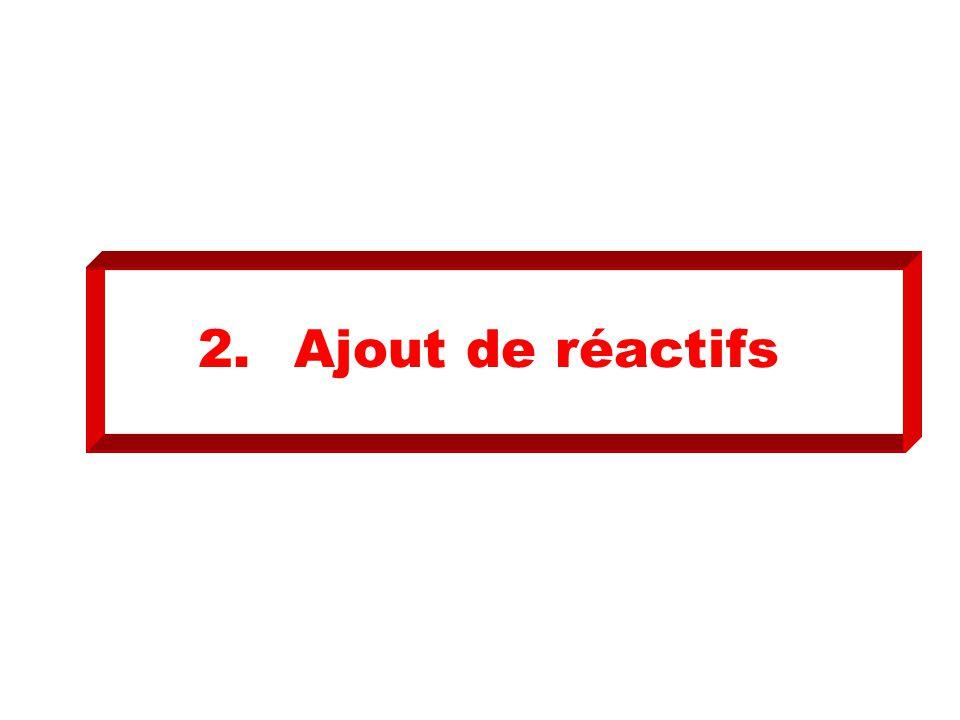 2.Ajout de réactifs