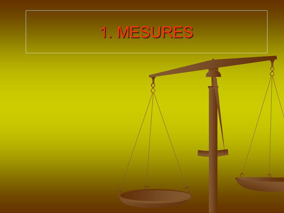 1. MESURES