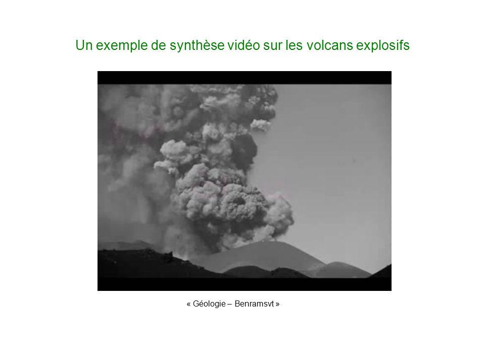 Un exemple de synthèse vidéo sur les volcans explosifs « Géologie – Benramsvt »