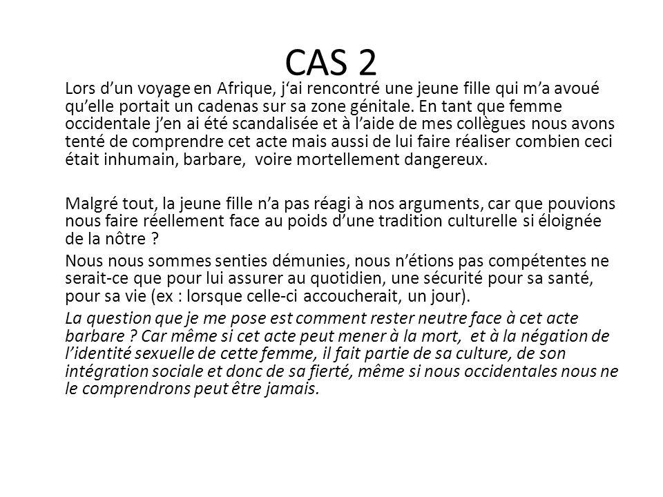 CAS 3 G.est un adolescent de 14 ans qui est dans un hôpital pédopsychiatrique.