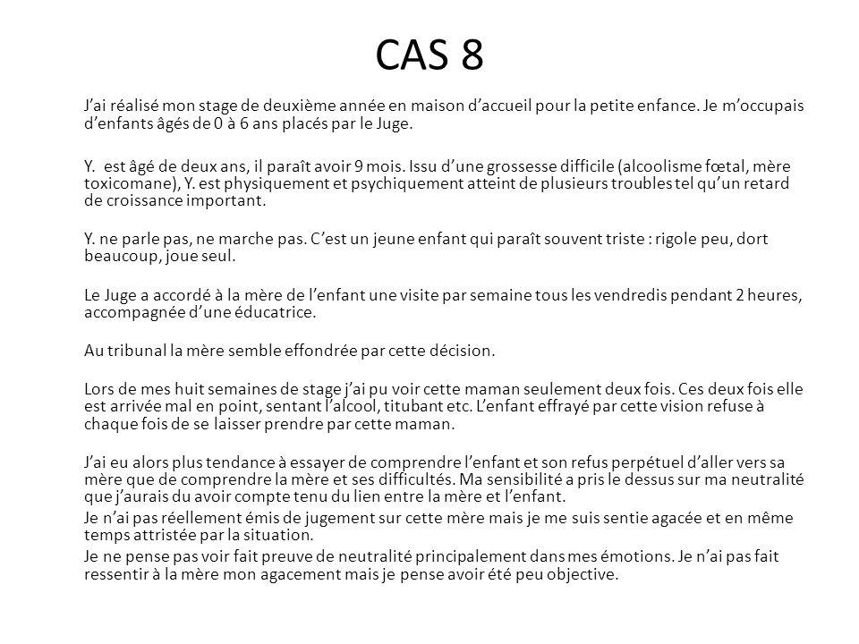 CAS 9 L'institution où j'ai fait mon stage est une maison d'accueil pour femmes en difficulté.