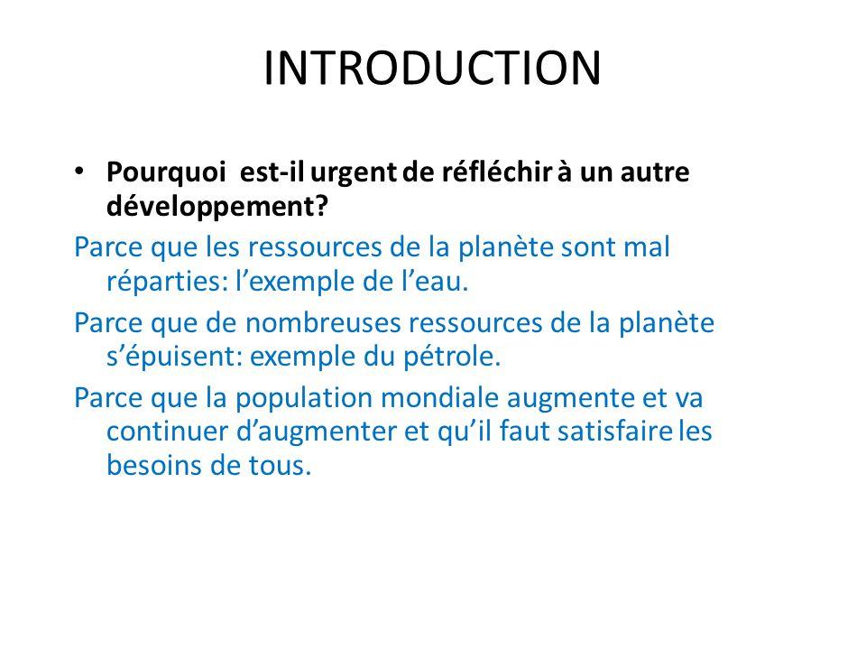 Developpement durable pourquoi dissertation