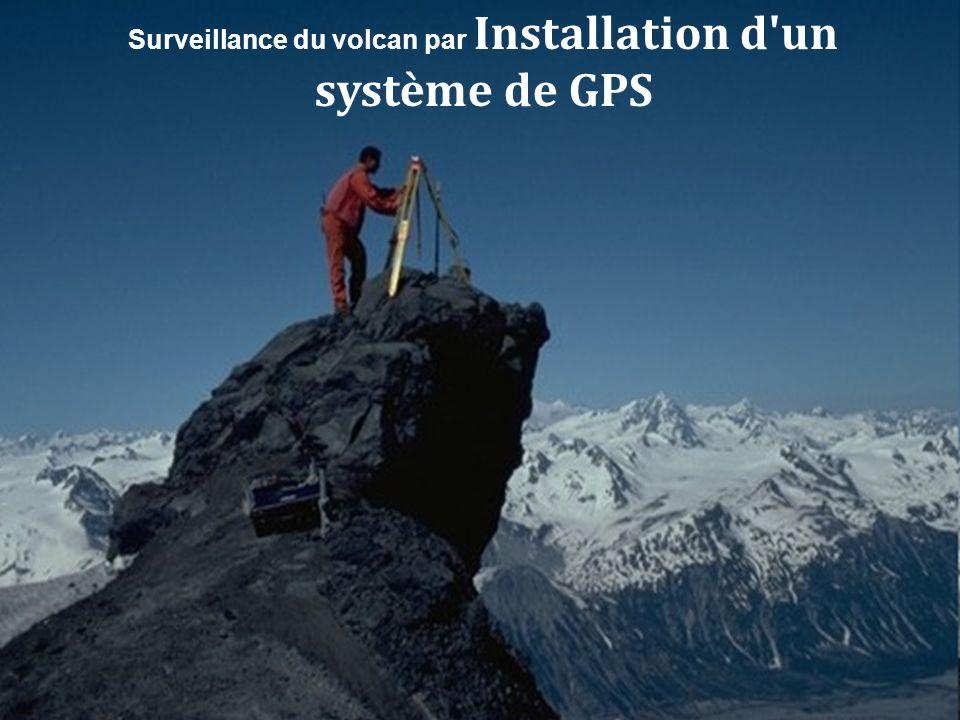Surveillance du volcan par Caméras vidéos installées