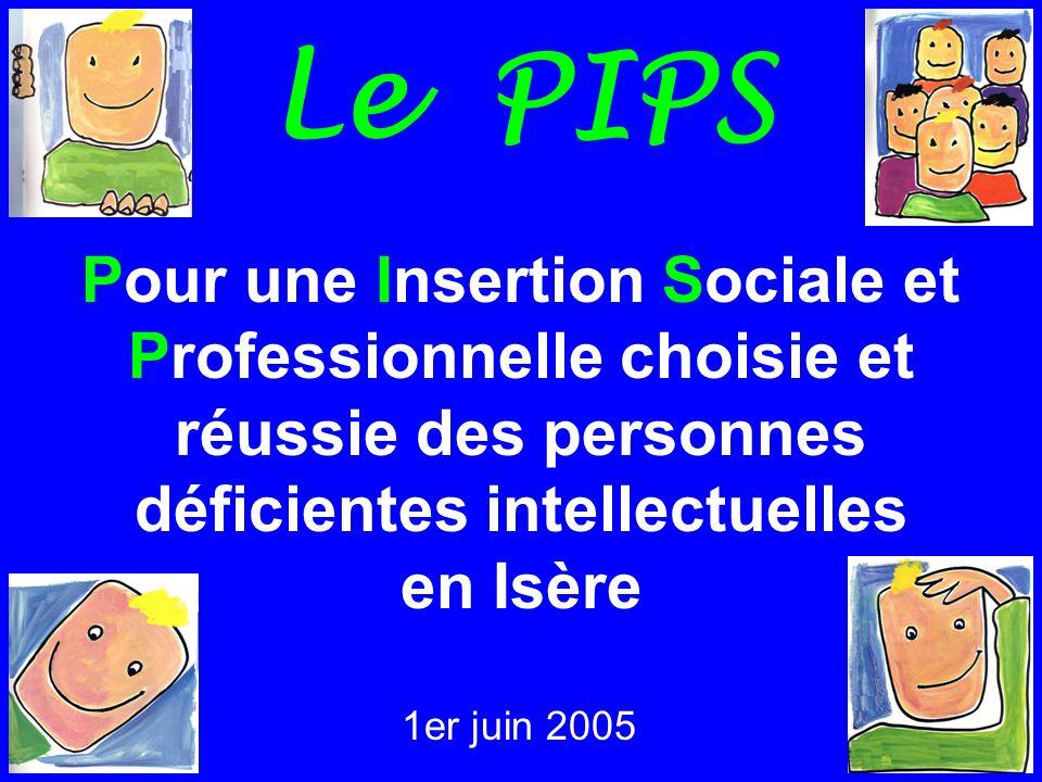1 Le PIPS Pour une Insertion Sociale et Professionnelle choisie et réussie des personnes déficientes intellectuelles en Isère 1er juin 2005